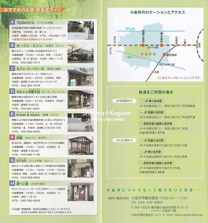 小金井まち歩きマップ⑤-3