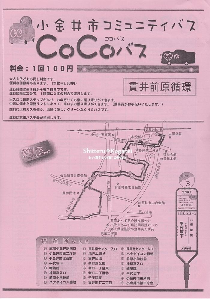 CoCoバス【貫井前原循環】