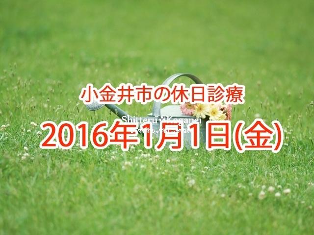 小金井市休日診療TOP_20160101