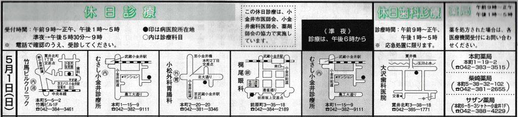 小金井市休日診療_20160501