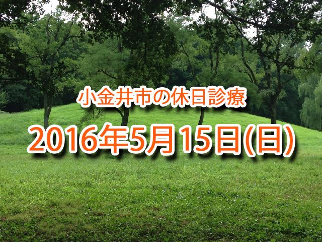 小金井市休日診療_20160515
