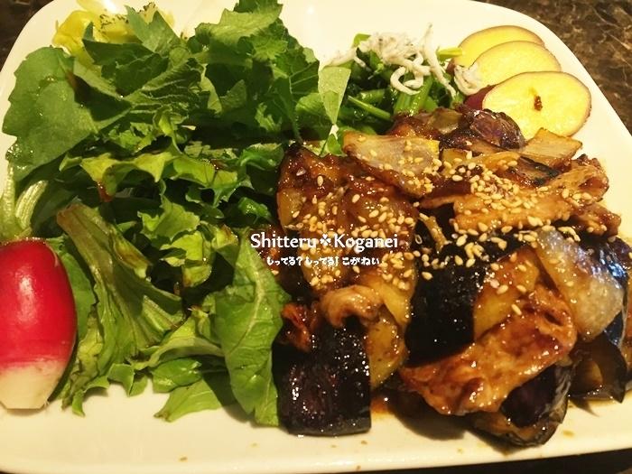 チェリオ ランチ ナスと豚肉の甘辛炒め