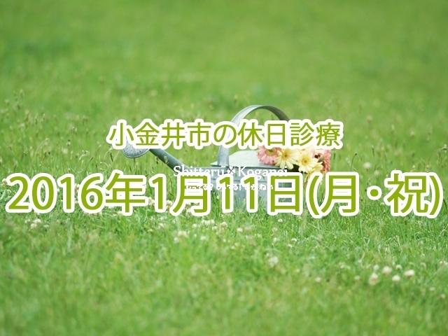 小金井市休日診療TOP_20160111