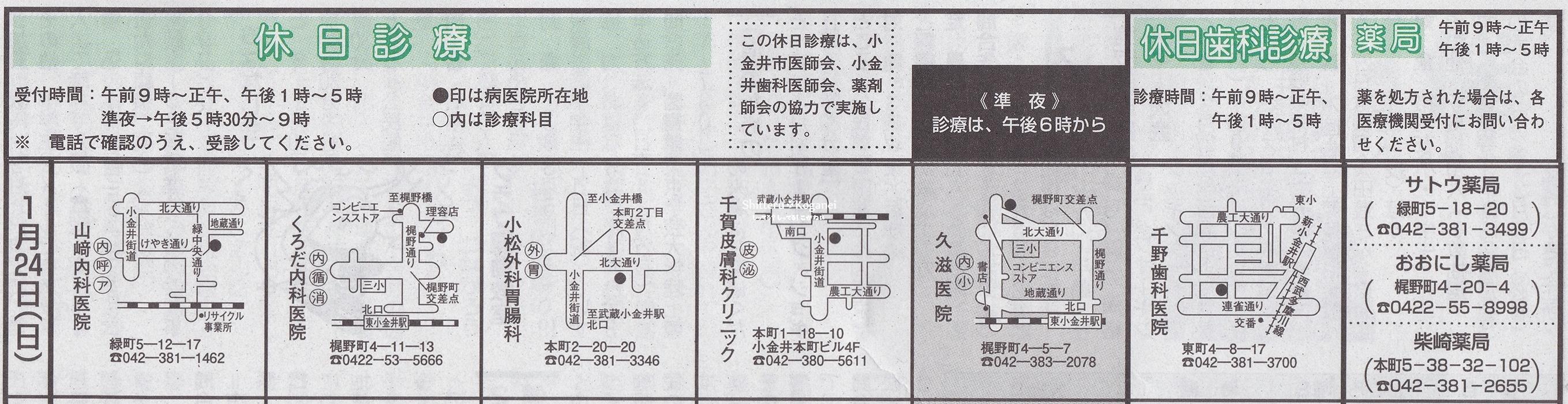 小金井市休日診療TOP_20160124