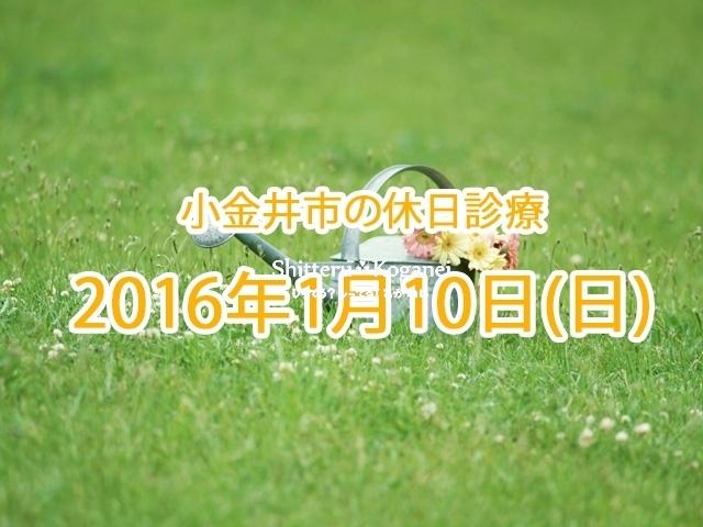 小金井市休日診療TOP_20160110