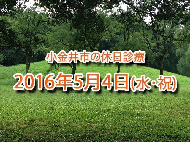小金井市休日診療_20160504
