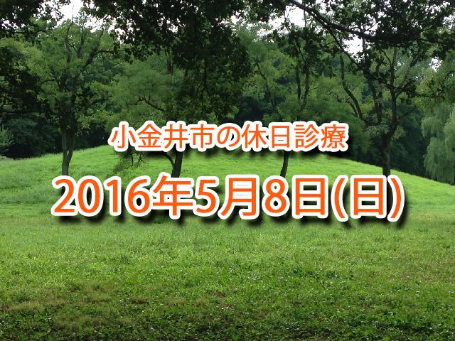 小金井市休日診療_20160508