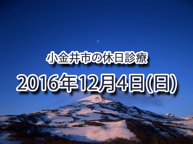 小金井市休日診療TOP_20161204